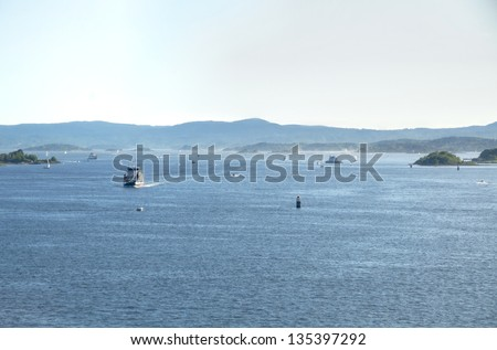 View of the North Sea from Oslofjord in Oslo, Norway - stock photo