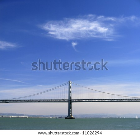 View of the Oakland Bay Bridge, California