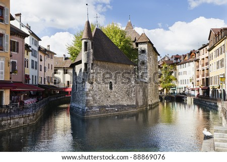 View of the old prison in Annecy, France