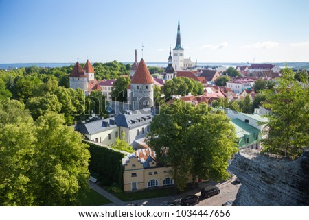View of the old Tallinn from the highest observation deck