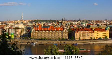 View of the Old Town Square, Prague, Czech Republic - stock photo