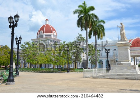 view of the Parque Jose Marti in Cienfuegos, Cuba