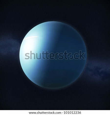 View of the planet Uranus - stock photo