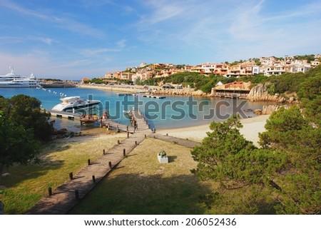 View of the Porto Cervo in Sardinia - stock photo