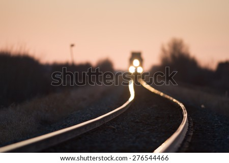 view of the railway track, industrial sereis - stock photo