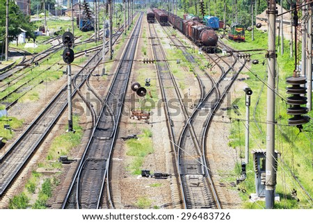 View of the railway transport - stock photo