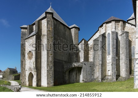 """View of the """"San Agusti�n"""" Chapel. Roncesvalles. Spain. XIV century. - stock photo"""