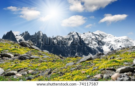 View of the Savoy Alps-Europe - stock photo