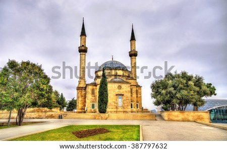 View of the Shahidlar Mosque in Baku - Azerbaijan - stock photo