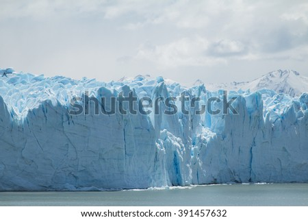 View of the side of the Perito Moreno Glacier in Argentina