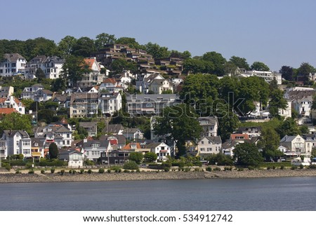 View of the Suellberg in the district of Blankenese in Hamburg, Germany, Europe
