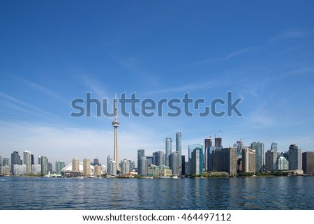 View of the Toronto skyline from Lake Ontario