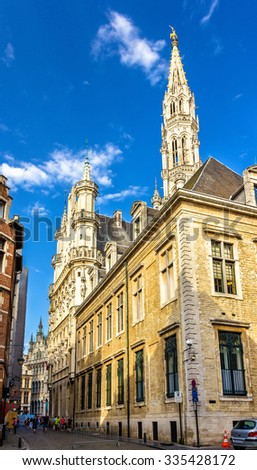 View of the Town Hall of Brussels - Belgium - stock photo