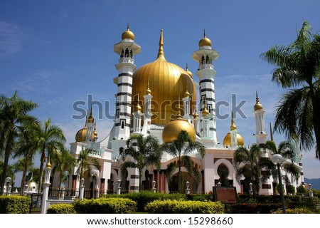 View of the Ubudiah mosque, Malaysia - stock photo
