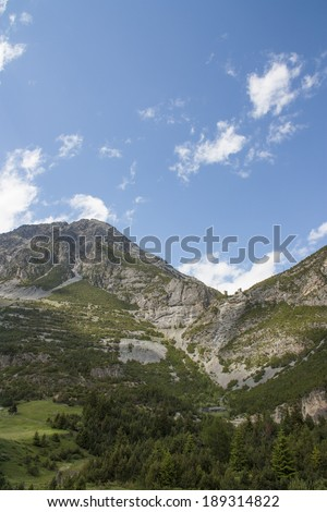View of the Valtellina in the Italian Alps