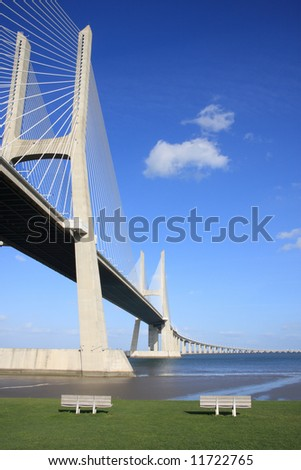 View of the Vasco da Gama bridge - Lisbon