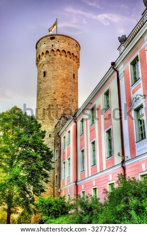 View of Toompea Castle in Tallinn - Estonia - stock photo