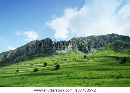 View of Trascau Mountains ,Carpathians,Romania