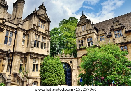 View of Trinity College, Oxford - stock photo
