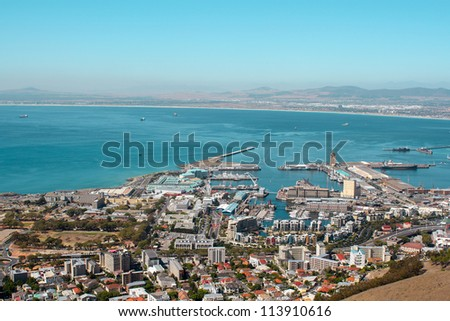 View of V&A Waterfront, Cape Town, South Africa, Africa - stock photo
