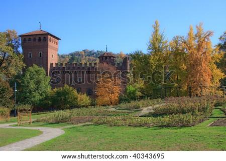 View of Valentino Castle - stock photo