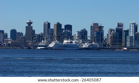 view of Vancouver harbour - stock photo