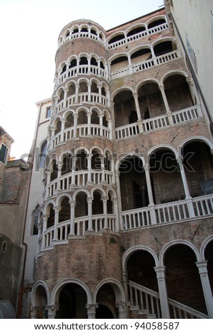 View of Venice the Scala a Bovolo - stock photo