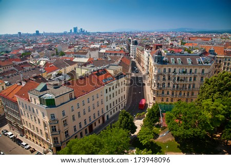 view of Vienna district  - stock photo