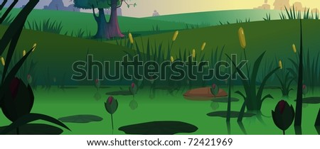 view of  water in pond - stock photo