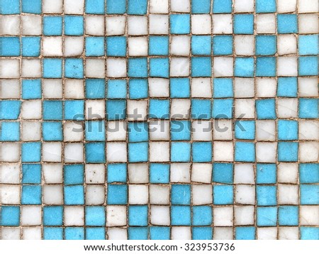 View of Weathered Square Ceramic Tiles with Plenty of Copy Space - stock photo