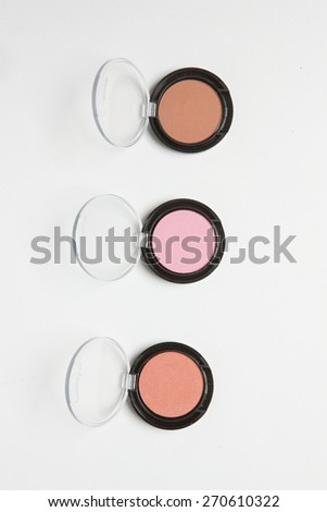 View of woman cosmetics - stock photo