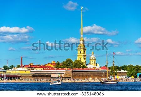 View of Zayachy island in Saint Petersburg - stock photo