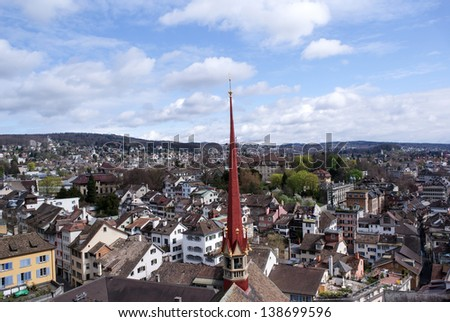 View of Zurich, Switzerland - stock photo
