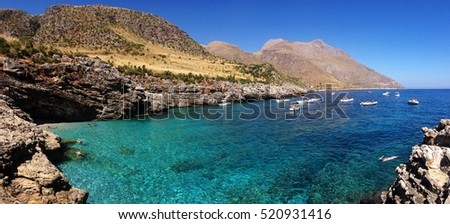 view on a amazing bay in Sicily, Gypsy natural reserve
