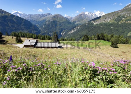 View on Alps during sunny summer day from Grossglockner Hochalpenstrasse, Austria