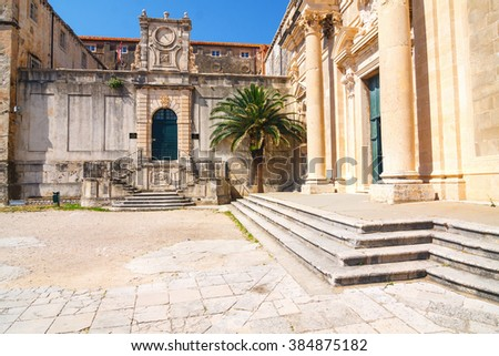 View on ancient, old town in Dubrovnik. Croatia.  - stock photo