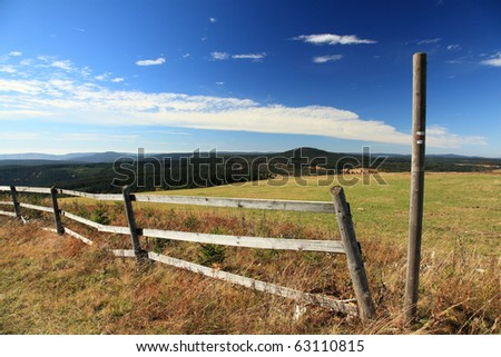 View on autumn Krusne hory (Ore Mountains)