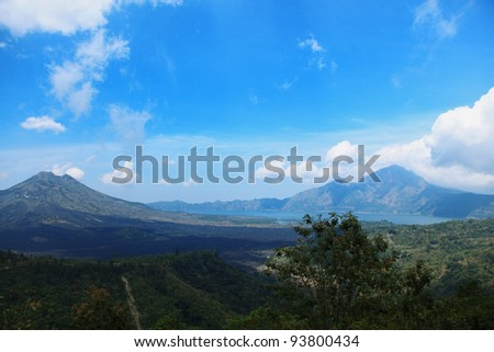 View on Batur volcano and lake, Bali