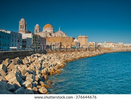 View on Cadiz, Spain - stock photo
