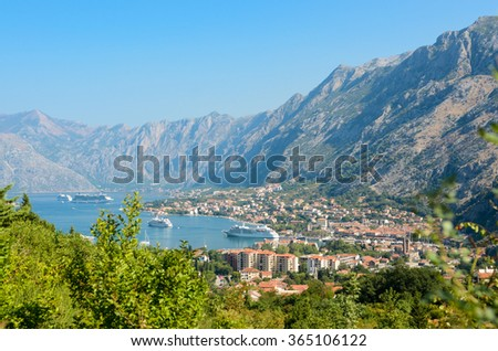 view on city Kotor. Montenegro