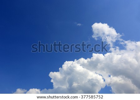 view on clouds in blue sky