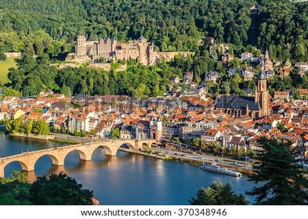 View on Heidelberg at summer, Germany - stock photo