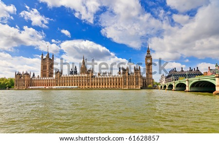 View on Houses of Parliament, London, UK - stock photo