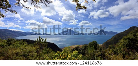 View on Lake Atitlan - stock photo