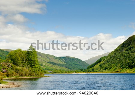 View on Loch Dughaill, Scotland - stock photo