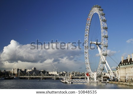View on London eye and London