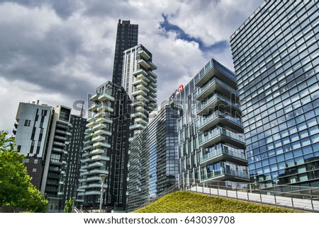 modern architecture buildings.  Buildings View On Modern Architecture Of Glass Buildings In Milan Downtown Including  Offices And Apartments Inside Modern Architecture Buildings E