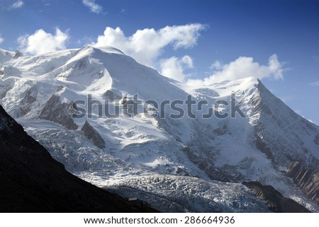 View on Mont Blanc in Chamonix, France
