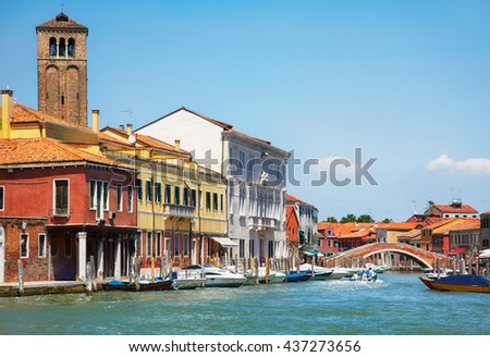View on Murano canals, Venice, Italy