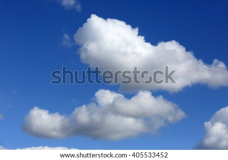 view on nice white clouds in blue sky